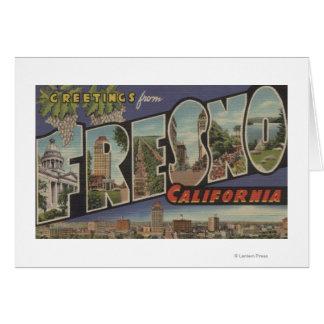Fresno, California - Large Letter Scenes Card