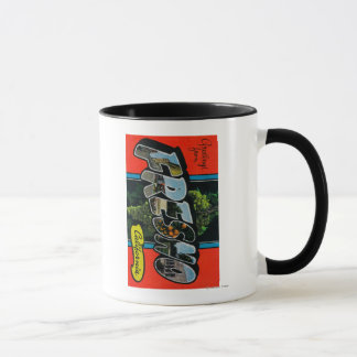 Fresno, California - Large Letter Scenes Mug