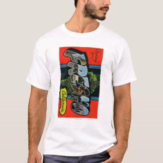 Fresno, California - Large Letter Scenes T-Shirt