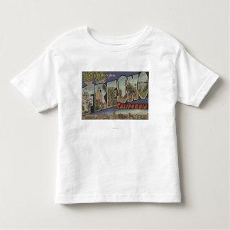 Fresno, California - Large Letter Scenes Toddler T-Shirt