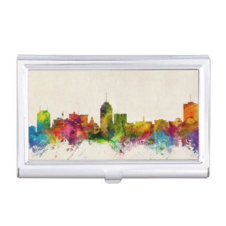 Fresno California Skyline Business Card Holder