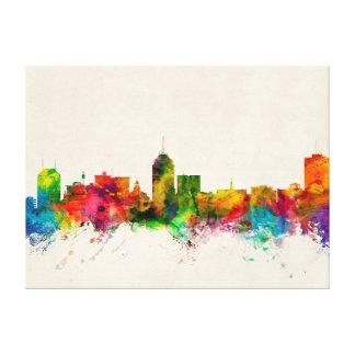 Fresno California Skyline Stretched Canvas Prints