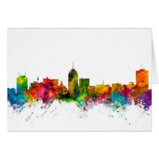 Fresno California Skyline Card
