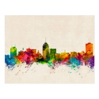 Fresno California Skyline Postcard