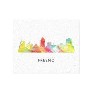 FRESNO CALIFORNIA SKYLINE  WB1 - CANVAS PRINT