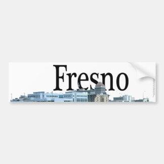 Fresno California with Fresno in the Sky Car Bumper Sticker