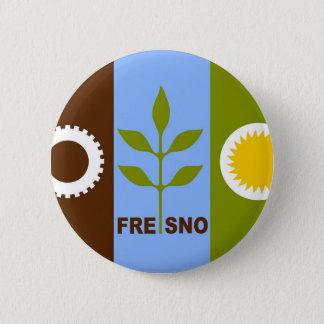 fresno city flag california republic united states 6 cm round badge