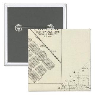 Fresno County, California 16 15 Cm Square Badge