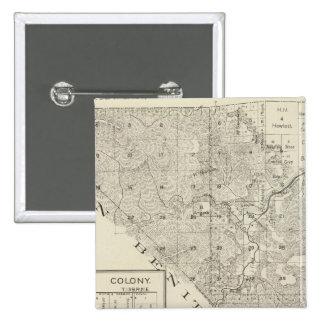 Fresno County, California 3 15 Cm Square Badge