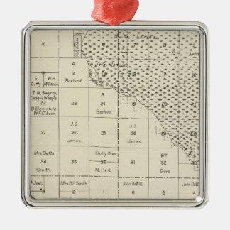 Fresno County, California 6 Silver-Colored Square Decoration