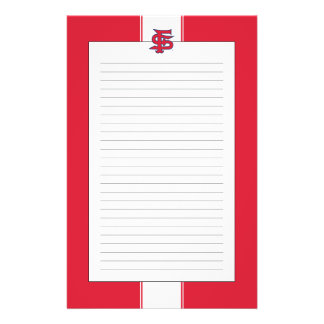 Fresno State Baseball Mark Personalized Stationery