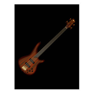 Fretless 4 String Bass Guitar Postcard