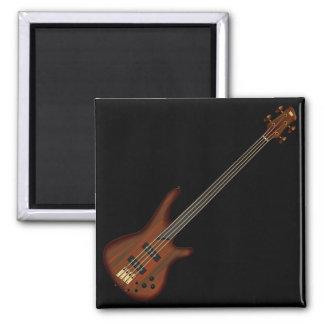 Fretless 4 String Bass Guitar Square Magnet