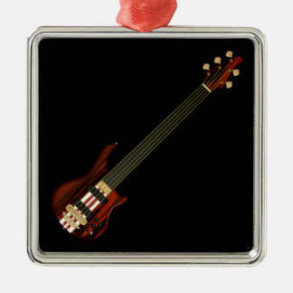 Fretless 5 String Bass Guitar Christmas Ornament