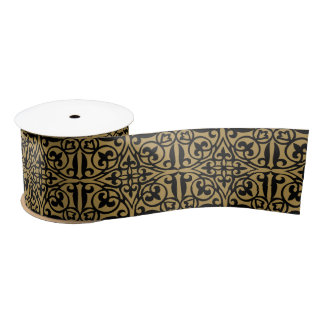 Fretwork Ribbon Spool Satin Ribbon