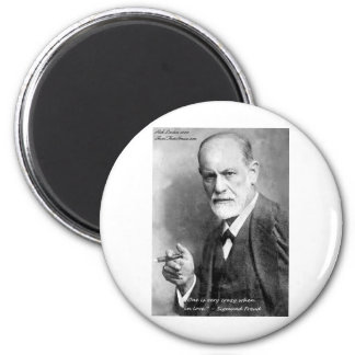 Freud Crazy Lovers Love Quote Gifts Cards Etc Magnet