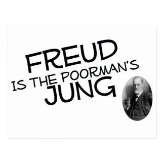 Freud Is The Poorman s Jung Postcard