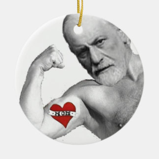 Freud Loves His Mother Christmas Ornament