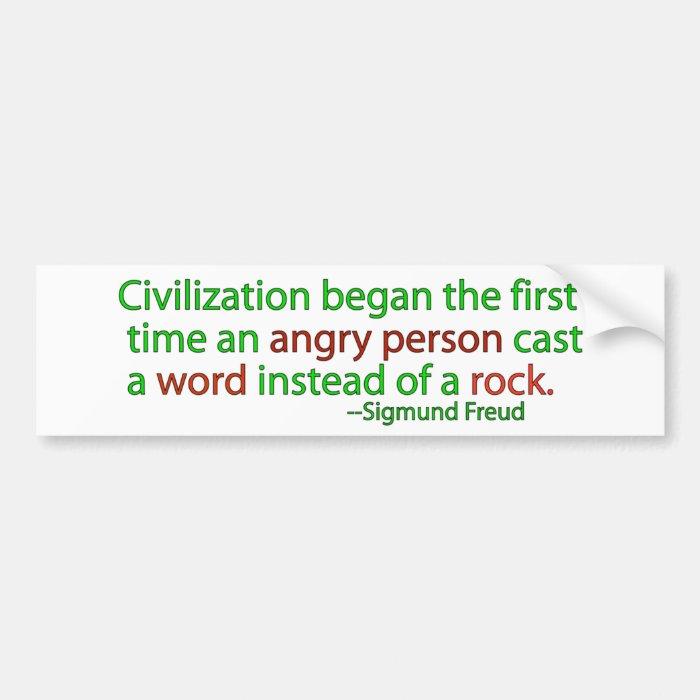 Freud on civilisation bumper sticker