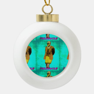 Freudian Slip Grunge Pop Art Meme Ceramic Ball Christmas Ornament