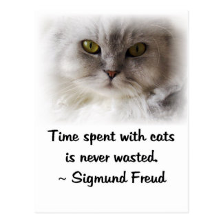 Freud's Cat Postcard