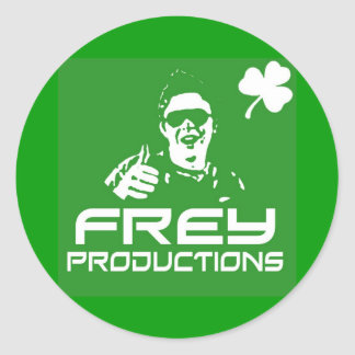 Frey Productions Green Sticker