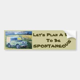 """FREYA"" Bumper Sticker with Let's Plan A..."