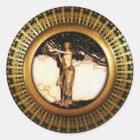 Freya Gold Classic Round Sticker