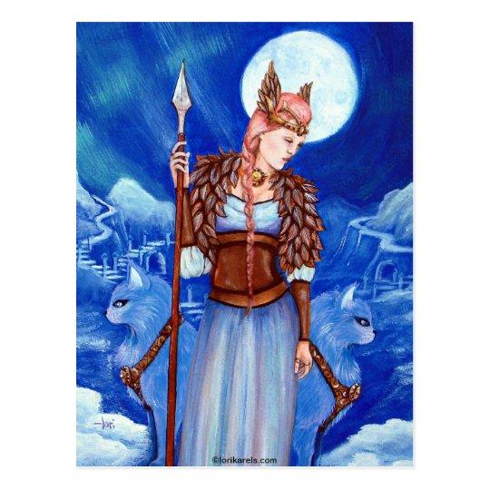 Freya Norse Goddess Postcard