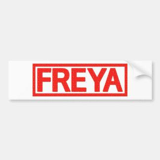 Freya Stamp Bumper Sticker
