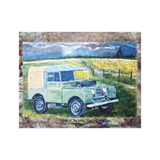 """Freya"" The Truck Cab : Wrapped Canvas"