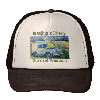 """FREYA"" Weather's Liberty Motto- Trucker Cap Trucker Hats"