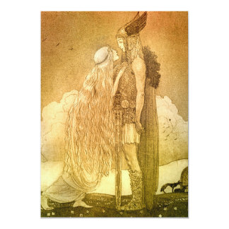 Freyja and Svipdag by John Bauer 1911 13 Cm X 18 Cm Invitation Card