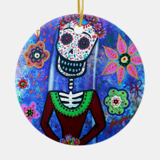 Frida Brida Day of the Dead Christmas Ornament