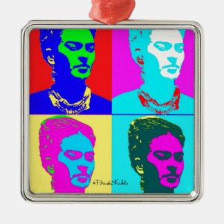 Frida Kahlo Andy Warhol Inspired Portrait Ornament