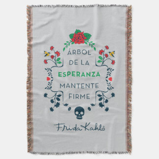 Frida Kahlo | Árbol De La Esperanza Throw Blanket