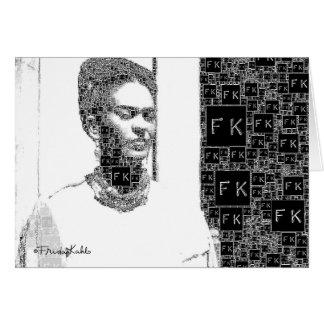 Frida Kahlo Black and White Portrait Card