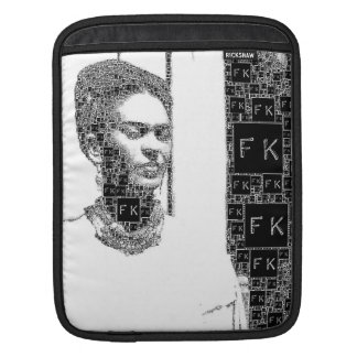 Frida Kahlo Black and White Portrait iPad Sleeve