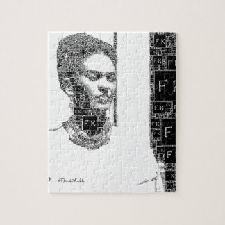 Frida Kahlo Black and White Portrait Jigsaw Puzzle
