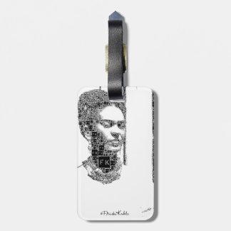Frida Kahlo Black and White Portrait Luggage Tag