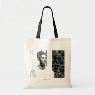 Frida Kahlo Black and White Portrait Tote Bag