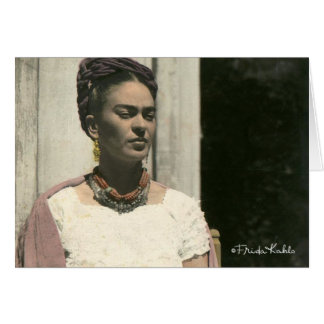 Frida Kahlo Blush Photograph Card