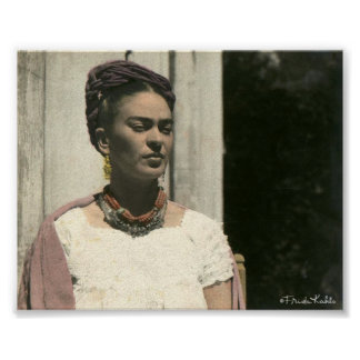Frida Kahlo Blush Photograph Posters