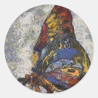 Frida Kahlo Butterfly Monet Inspired Classic Round Sticker