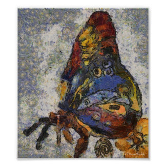 Frida Kahlo Butterfly Monet Inspired Poster