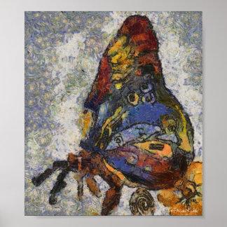 Frida Kahlo Butterfly Monet Inspired Poster