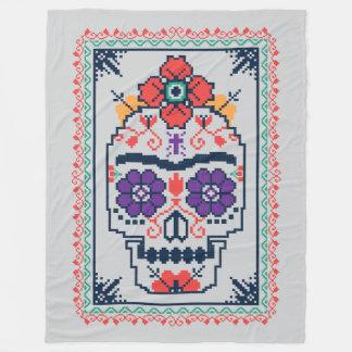 Frida Kahlo   Calavera Fleece Blanket