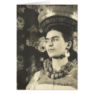 Frida Kahlo con Charola Original Card