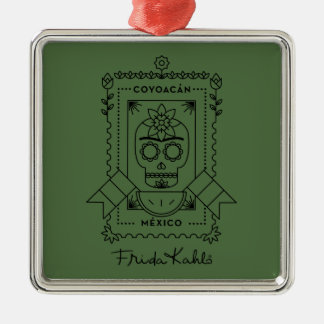 Frida Kahlo | Coyoacán Silver-Colored Square Decoration