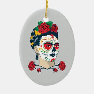 Frida Kahlo   El Día de los Muertos Ceramic Oval Decoration